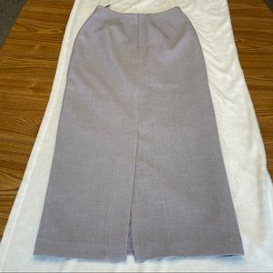 Larry Levine Gray Purple Maxi Skirt Size 8